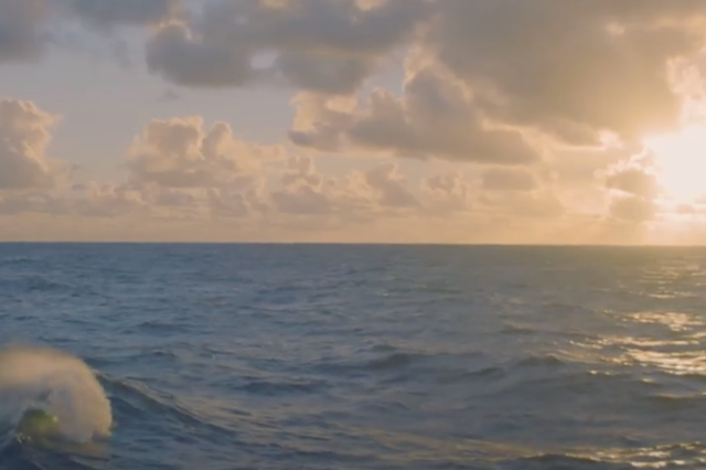 Marine Minerals Video sunset over ocean