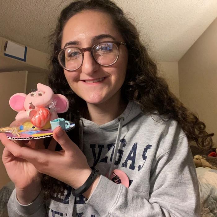 Anna and her figurine