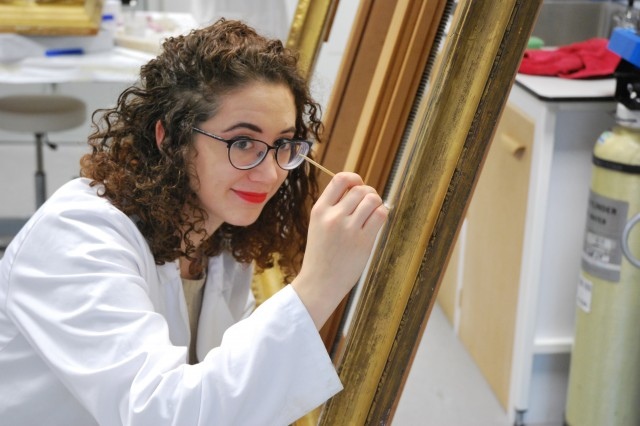 Assistant Conservator Marina Gibbons