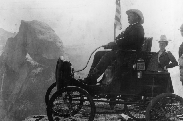 Locomobile Half Dome in the Background