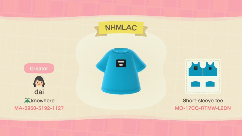 NHMLAC Tee Animal Crossing