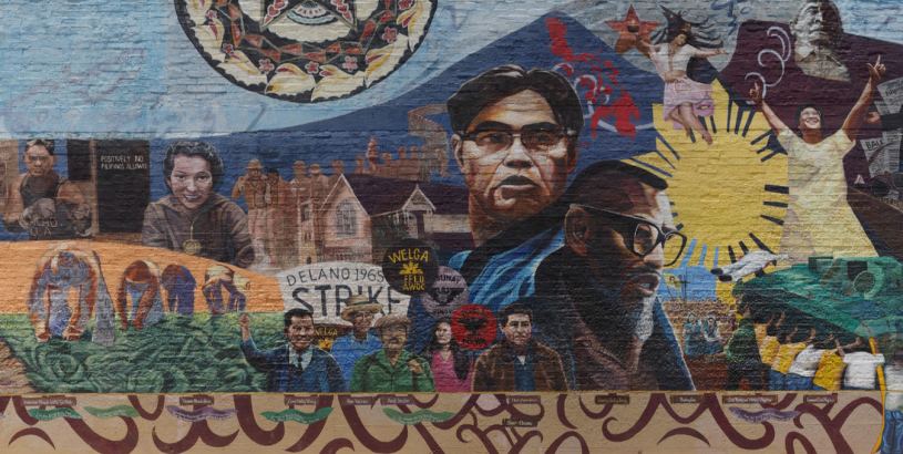 Filipino American Mural at Unidad Park titled Filipino Americans: A Glorious History, A Golden Legacy