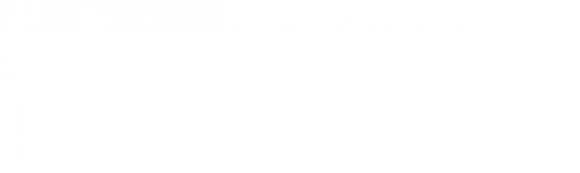 los angeles department of water and power logo in white